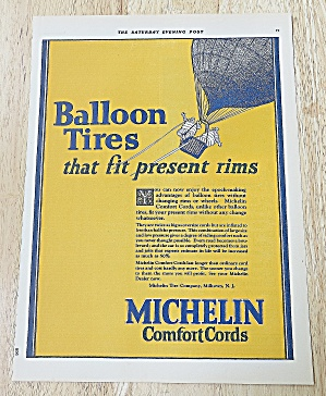 1924 Michelin Tires With Balloon Tires
