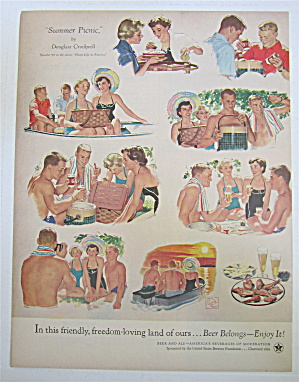 1954 Summer Picnic By Douglass Crockwell