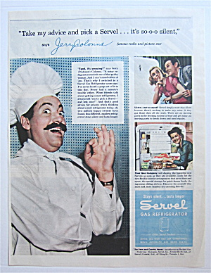 1945 Servel Gas Refrigerator With Jerry Colonna