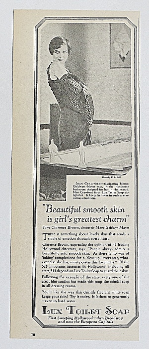 1930 Lux Toilet Soap With Joan Crawford