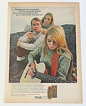 1966 Teak With Man & Two Women