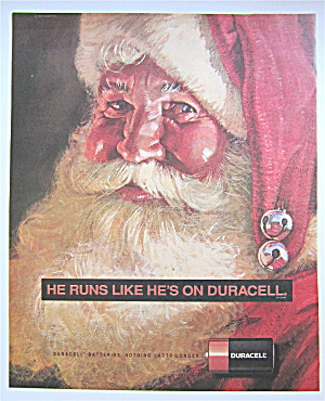 1992 Duracell Batteries With Santa Claus