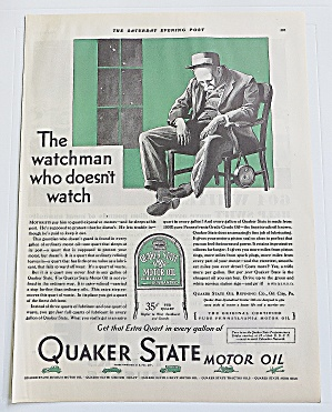 1930 Quaker State With Watchman