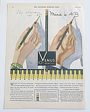 1930 Venus Pencils With Hands Writing