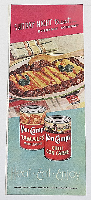 1948 Van Camp's With Tamales & Chili Con Carne