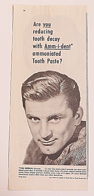 1950 Ammident Toothpaste With Kirk Douglas