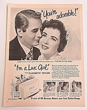 1950 Lux Soap With Elizabeth & Don Taylor