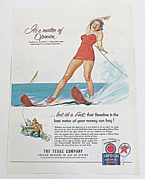 1953 Havoline Motor Oil With Woman Water Skiing