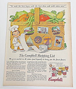 1957 Campbell's Soup With Campbell Kid