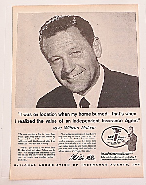 1960 Independent Insurance Agent With William Holden