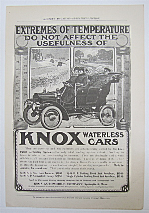 1905 Knox Waterless Cars With People In A Car