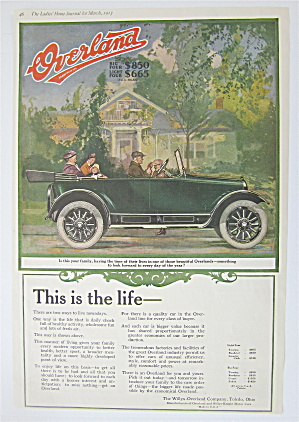 1917 Overland With Family Driving In An Overland