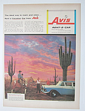 1957 Avis Rent A Car With Rent It Here-leave It There