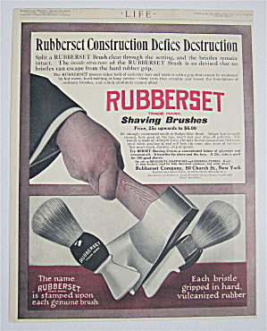 1909 Rubberset Shaving Brushes With Brush Cut In Half