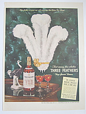 1944 Three Feathers Whiskey With Three Feathers