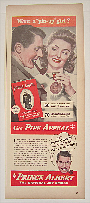 1944 Prince Albert Tobacco With Woman Holding Medal