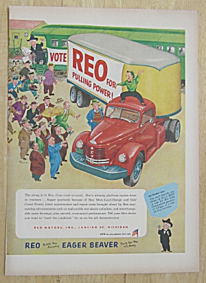 1952 Reo Trucks With The Eager Beaver