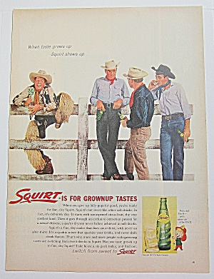 1962 Squirt W/cowboys & Man Climbing Fence With Sucker