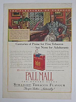 1937 Pall Mall Cigarettes With Charles Kingsley