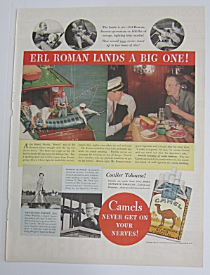 1937 Camel Cigarettes With Sportsman Erl Roman