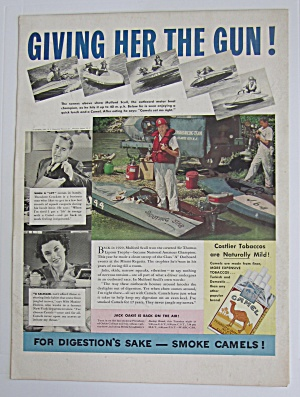 1937 Camel Cigarettes With Boat Champion Mulford Scull