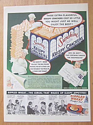 1938 Sunshine Krispy Crackers With 3 Little Chefs