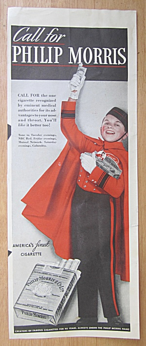 1939 Philip Morris Cigarettes With Philip Morris Man
