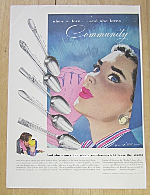 1953 Community Silverplate With Lovely Blue Eyed Woman