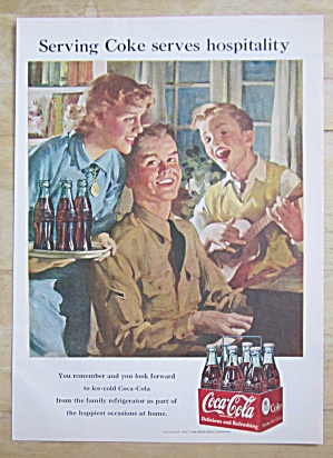 1951 Coca Cola (Coke) With Soldier Playing Piano