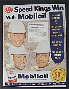 1953 Mobil Oil With Speed Kings