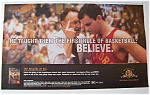 2004 Movie Ad For Hoosiers