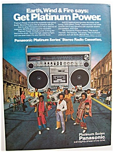 Vintage Ad: 1980 Panasonic Radio W/earth, Wind & Fire