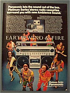 Vintage Ad: 1981 Panasonic Radio W/earth, Wind & Fire