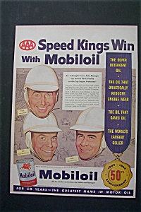 1953 Mobil Oil With 3 Aaa Speed Kings Of Auto Racing