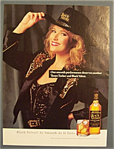 Vintage Ad: 1993 Black Velvet Whiskey With Tanya Tucker