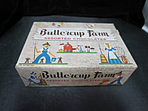 Vintage Miller Hollis Buttercup Farm Chocolate Box
