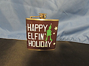 Christmas Flask Happy Elfin Holiday Stainless Steel