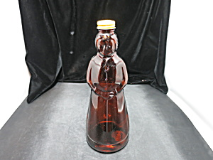 Mrs. Butterworth's Syrup Bottle Original Lid Amber 10in