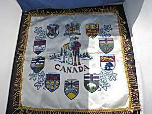 Canada Coat Of Arms Silk Pillow Case