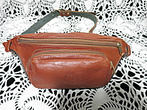 Fg Pelletterie Darte Dorgali Leather Fanny Pack Vintage