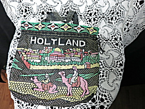Holy Land Beaded Bag Purse Draw String With Handles