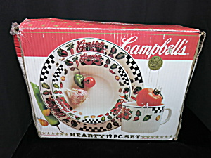 Campbells Hearty 12 Pc Set Gibson 1997 Plates Bowls Cup