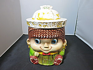 Girl Cookie Jar Sanyel Nagoya Japan Woolworth Imported