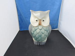 Brush Mccoy Owl Cookie Jar Grey Blue Turquoise Unmarked