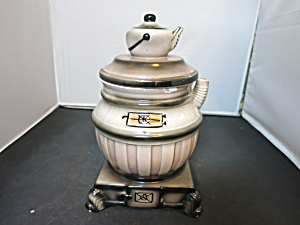 Royal Sealy Pot Belly Stove Cookie Jar Coffee Kettle