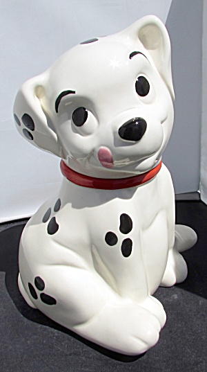 Roly Dalmation Dog Cookie Jar Treasure Craft 1990s