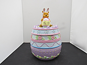 Pooh Easter Egg Disney Cookie Jar Pooh With Bunny Ears