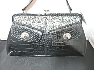 Vintage Worthington Shoulder Bag Black White Silver Nwt