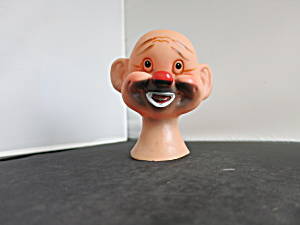 Vintage Clown Doll Head Black Painted Face Crafting