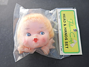 Vintage Fibre Craft Head And Hands Doll Set